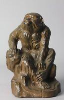Exquisite  Japanese Bronze Saru, Monkey Okimono by Watanabe Kansui S26
