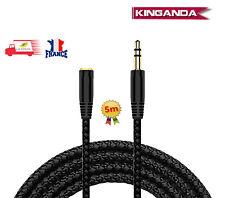 5 M Jack 3.5mm Extension Audio Câble 3.5 Mâle à Femelle Écouteur Câble