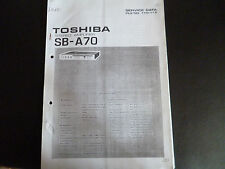 Service Manual Toshiba Stereo Amplifier SB-A70
