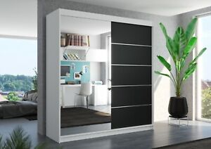 Brand new wardrobe OLIVIER 200cm large mirror 2 sliding doors