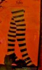 "Nip Girls Orange Black Striped Tights ""Plus Size"" (14 - 18) Pumpkin Witch Hose"