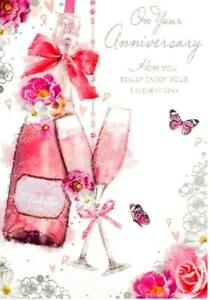 On Your Anniversary Card ~ Celebrate in Style  By Card Essentials ~ Free P&P