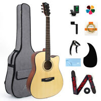 AKLOT Acoustic Guitar Spruce Full Size 41 inch for Student and Beginner Gig Bag