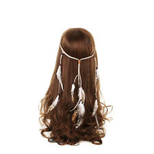 Feather Headdress Hippy Indian Feather Headband Festival Party Boho Hairband