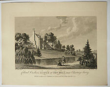 Gravure XVIIIe MICHAEL ANGELO ROOKER 1777 SANDBY Onslow Try-hill Chertsey Surry
