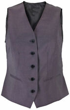 Polyester V Neck Patternless Plus Size Waistcoats for Women
