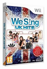 "Nintendo Karaoke Wii Game We Sing "" UK Hits "" Adele Amy Winehouse QUEEN ETC NEW"