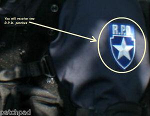 RESIDENT EVIL ZOMBIE OUTBREAK RACCOON CITY POLICE DEPT RPD 2-VEL©®Ø-PATCH SET