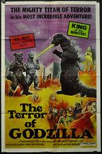 Terror Von Godzilla 1975 Original 27X41 Film Poster Tomoko Ai Katsuhiko Sasaki