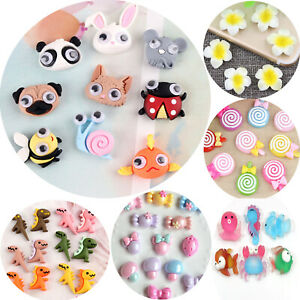 20 Flatback Resin Cute Various Animal Flower Candy Cabochons Scrapbooking Craft