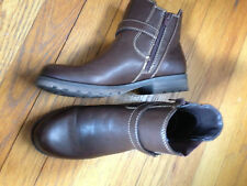 Natural Soul 8  Brown Women's  Leather Ankle Boots
