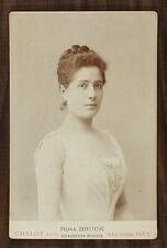 Rosa Bruck Actrice Théâtre Comédie-Française Photo cabinet card Chalot Paris