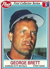 1990 POST CEREAL COLLECTOR SERIES #4/30 GEORGE BRETT - KANSAS CITY ROYALS