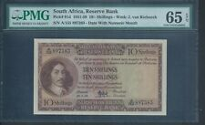 South Africa 10/- P91d 22.1.58 PMG 65 EPQ Gem Uncirculated