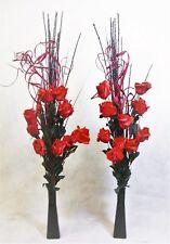55 Cm Tall Cream Netlon Flowers 6 Heads in Glass Vases - Wedding Tables