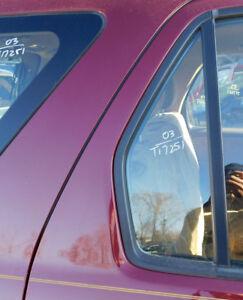 2002 03 04 05 06 Honda CR-V Passenger Rear Vent Glass w/90 Day warranty oem