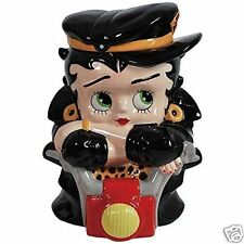 Betty Boop Ceramic Large Cookie Jar Biker Chick High Gloss #24063 New