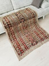 """Fine  Antique Pre-1900s Muted Dyes,Wool Pile 3'6""""×4'7"""" Oushak Rug For Collector"""