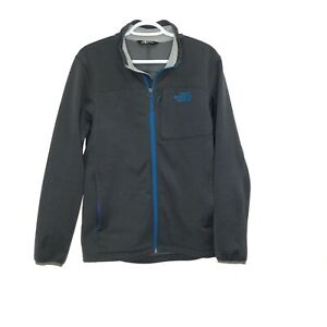 THE NORTH FACE Men's S Small Gray Soft Shell Full Zip Embroidered Jacket