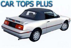 1990-1992 Mercury Capri Convertible Top & Plastic Window, White Cabrio Vinyl