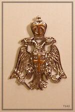 RUSSIAN ORTHODOX SILVER GOLD CROSS PENDANT MEDALLON  ICON Double-headed eagle