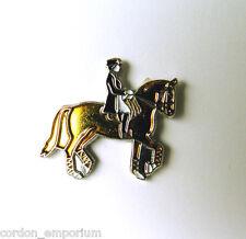 HORSES & RIDER HORSE SHOW JUMPING LAPEL PIN 3/4 inch