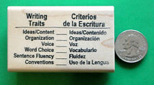 Writing Traits, bilingual, Teacher's Rubber Stamp
