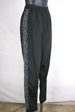 Kensie NEW Black White Bubble Striped Polyester Lounge Pants Misses Size Medium