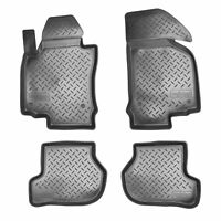 3D Gummi Fussmatten für VW Golf Plus | BJ 2004-2014 | mit Rand passgenau