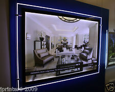 Double Sided Landscape A1 Estate LED Window Light Panel Pocket Display 70x95cm