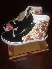 """VANS Sk8-Hi """"Breast Cancer Awareness"""" Canvas Skate Shoes - Women's Size 9"""