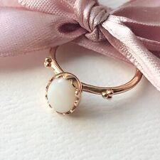 Genuine Unused Pandora 14ct Gold Opal Soft Sweetness Ring 52 150169WOP