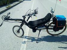 Bici reclinata elettrica pieghevole, folding recumbent e-bike - scambio, leggi