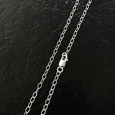 14 Inch .925 Sterling Silver 3x2mm Oval Cable Chain Necklace Assembled by Hand