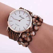 Fashion Women Crystal Diamond Bracelet Stainless Steel Geneva Quartz Wrist Watch
