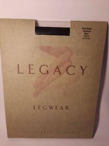 Legacy QVC Legwear Body Shaper Pantyhose Black Size D A19744 New