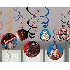 star wars the force awakens 12pc swirl decoration kit birthday party supplies - Star Wars Party Decorations