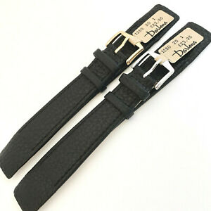 20mm DARLENA 1250 BLACK OPEN ENDED SOFT LUXURY CALF LEATHER WATCH STRAP