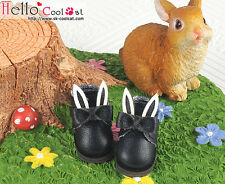 ☆╮Cool Cat╭☆【23-2】Blythe/Pullip Bunny Ears With Bow Mini Ankle Boots # Black