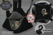Sga Sugar Glider Rat Hamster Cage Pouch Hanging Hammock Bedding Elegant Black