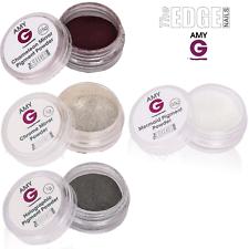 The Edge Nails Amy G-Cromo Espejado uñas de gel de inmersión Polvos para Uñas Metálico