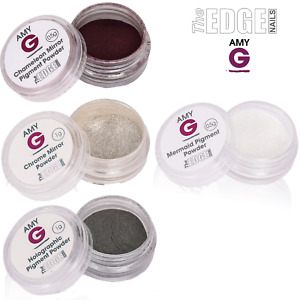 The Edge Nails Amy G - CHROME MIRROR Nail Dipping Powders For Gel Nails Metallic