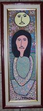 Painting By THE LATE MASTER DIEUSEUL PAUL HAITI HAITIAN art seller voodoo framed