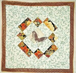 Handmade Quilted Beautiful Table Runner Topper Mat Stitched 14 x 14