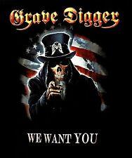 GRAVE DIGGER cd lgo We Wan You UNCLE SAM 2016 Official TOUR SHIRT LRG new