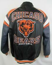 Chicago Bears Mens Size Large Full Zip Embroidered Leather Jacket ABEA 155