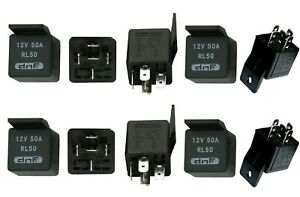 10 PACK 50 AMP 12V BOSCH STYLE CAR ALARM AUTOMOTIVE RELAY + SHIPS  TODAY!