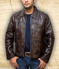 Men Inception Cobb Leonardo Dicaprio Brown Handmade Leather Jacket Size Smal-5XL