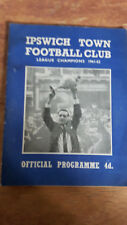 Football programme - Ipswich Town v Arsenal - 30 March 1963
