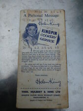 Old vintage Cook Cookery Book Kingpin